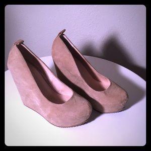 Aldo suede platform shoes